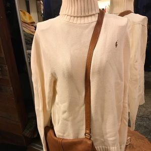 Ralph Lauren turtle neck & fossil leather purse